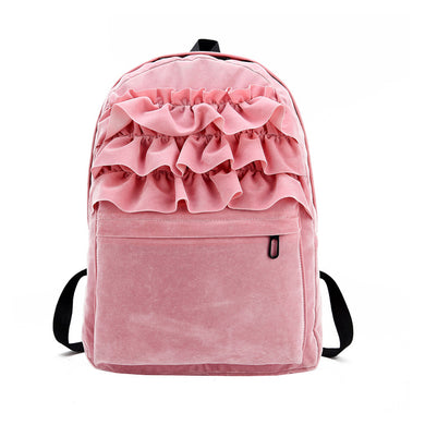 Fashion Flouncing Lace Backpack for Women