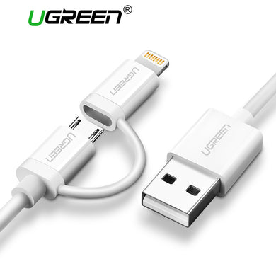 2-in-1 USB Lightning to Micro Cable for the Apple iPhone and Android by UGREEN