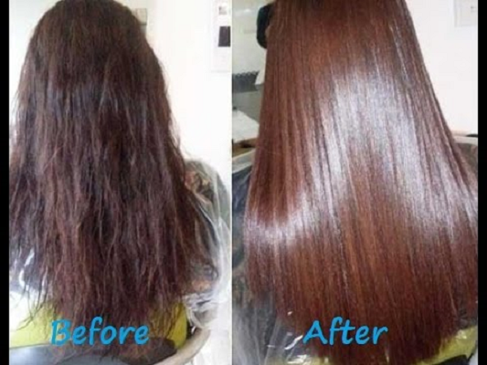 silky hair with argan oil