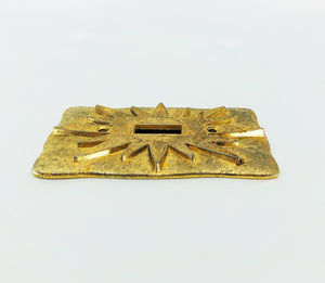 MCM Vintage Brass Stardust Switchplate