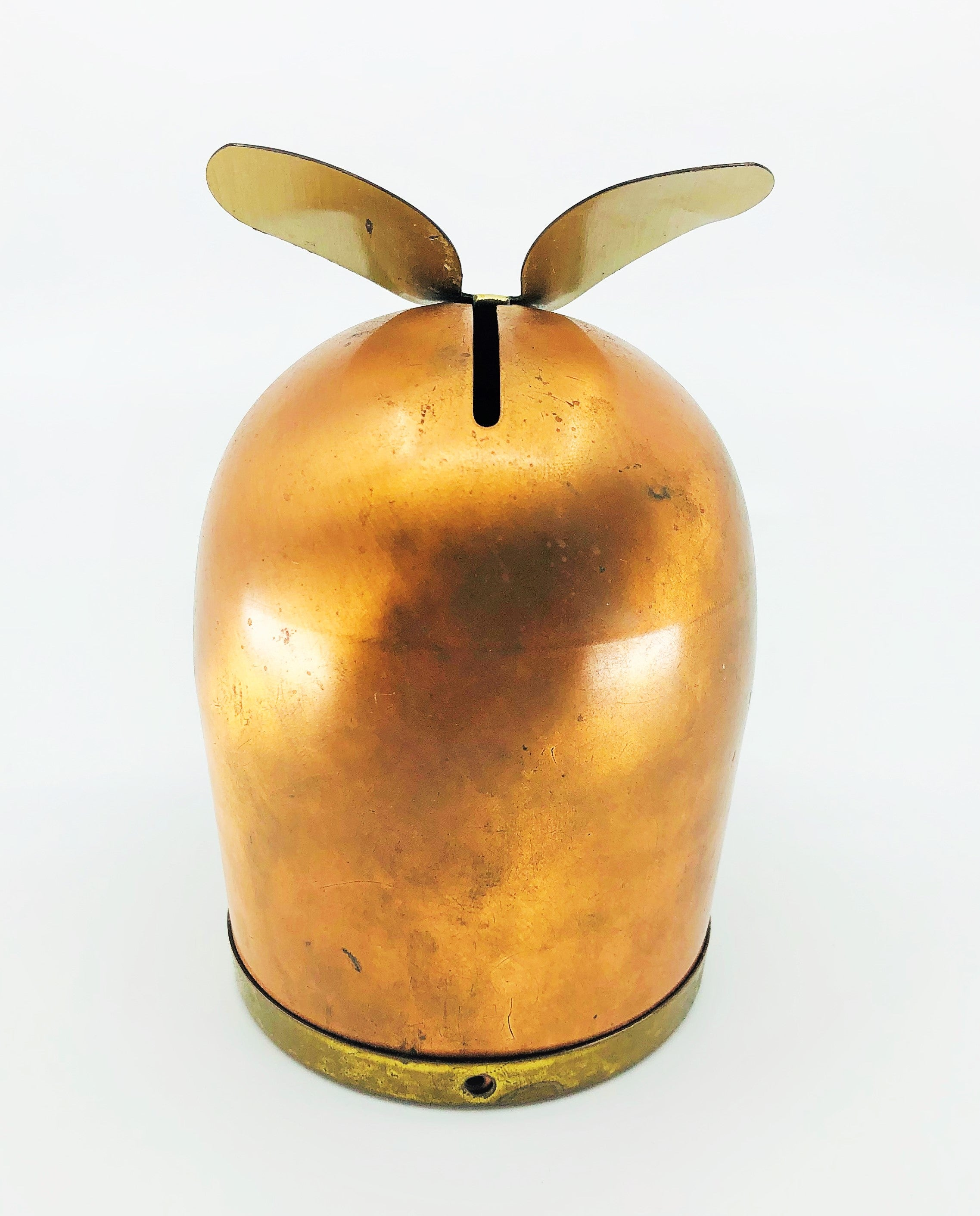 Coppercraft Guild Copper & Brass Owl Coin Bank