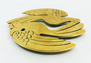 Lovebirds Brass Trivet