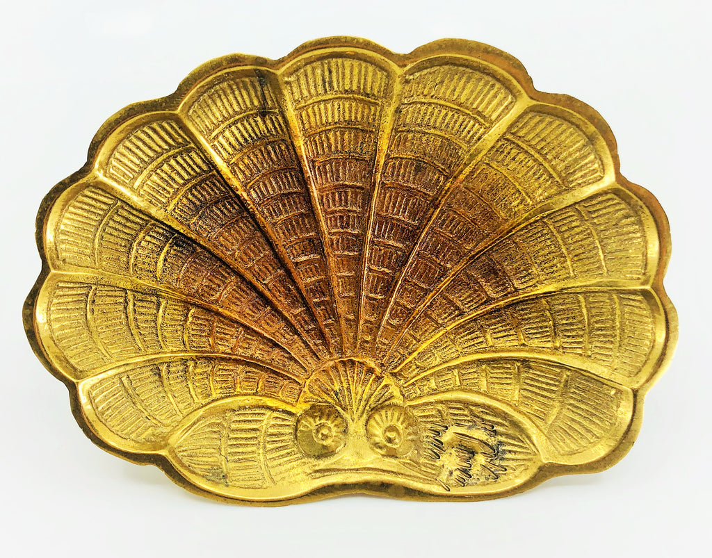 Brass Seashell Dish