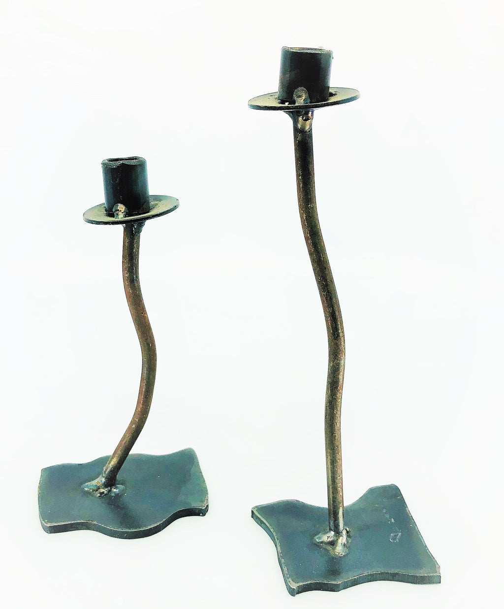 Wavy Brutalist Candlestick Holders