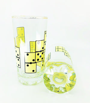S/2 Domino Drinking Glasses