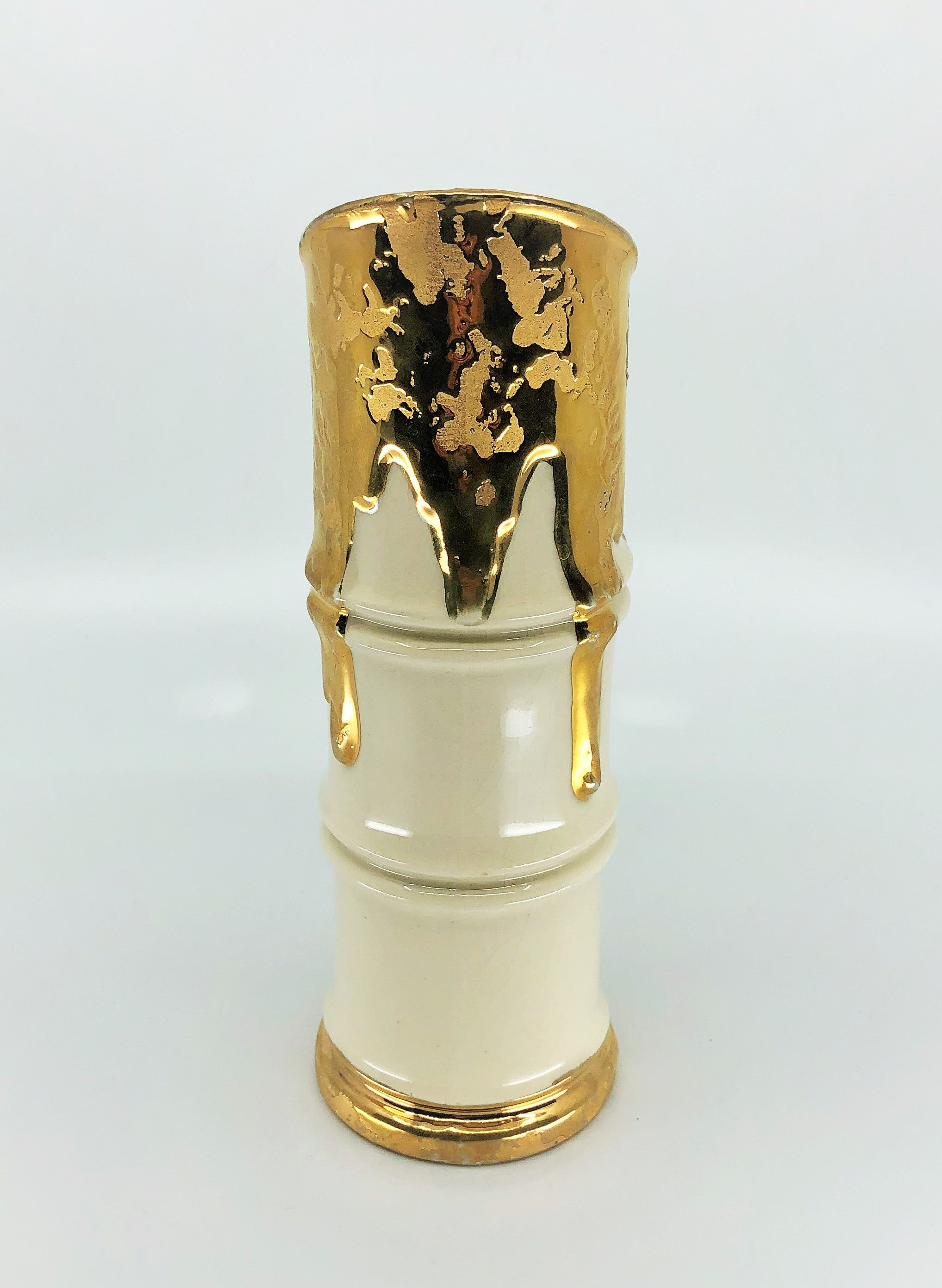 Savoy China 24K Weeping Gold Bamboo Vase