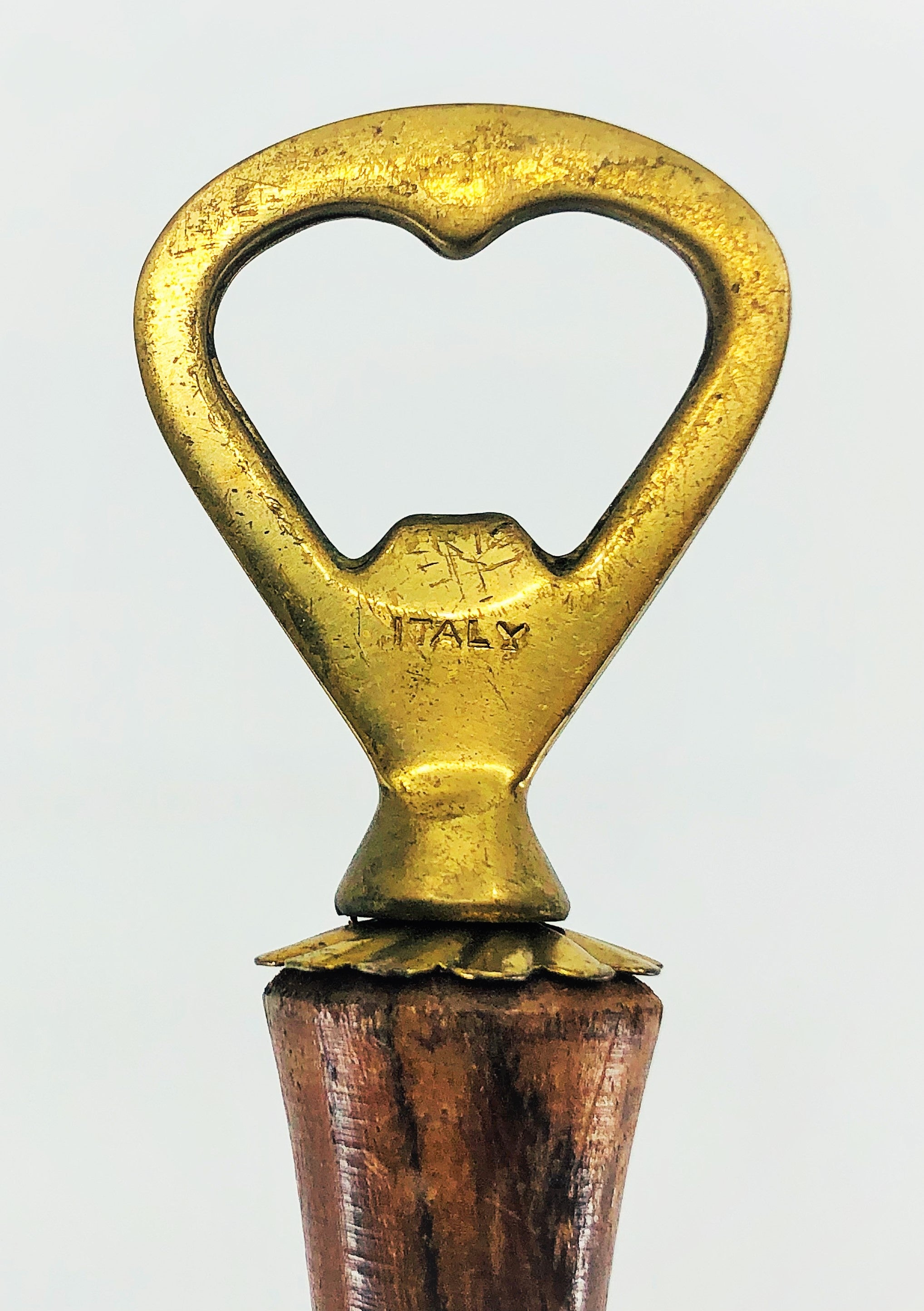 Vintage Teak & Brass Anchor Bottle Opener