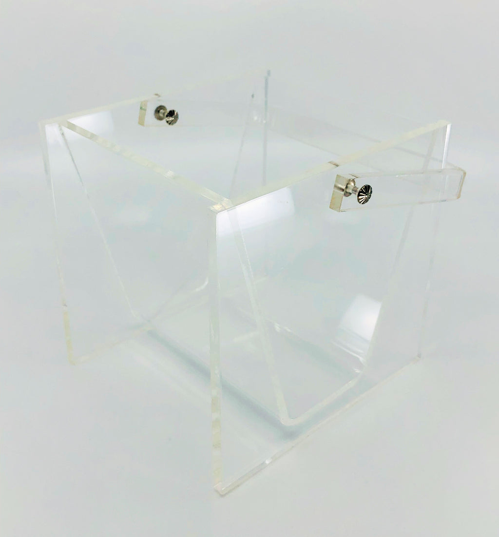 Geometric Lucite Ice Bucket