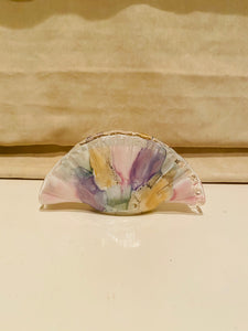 Murano Glass Watercolor Fan Catchall