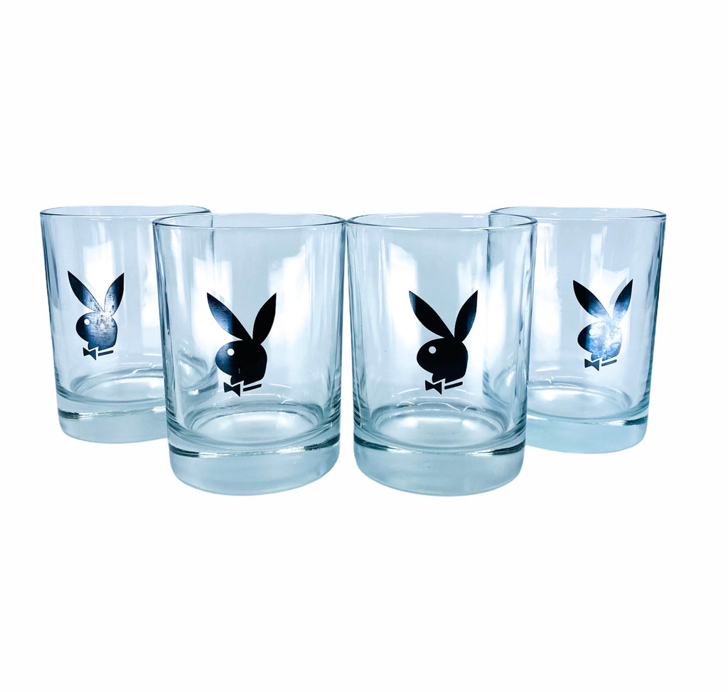 Vintage Playboy Glasses, Set of 4