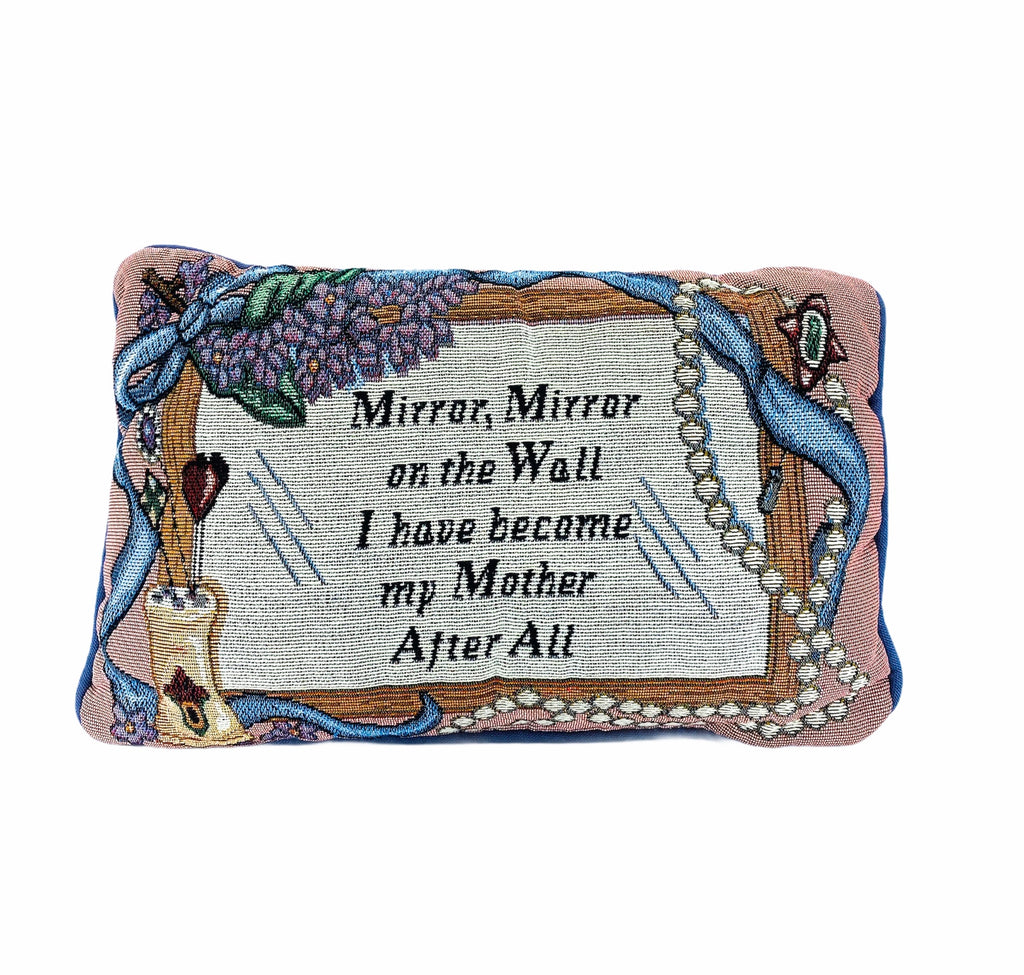 """Mirror Mirror"" Needlepoint Pillow"