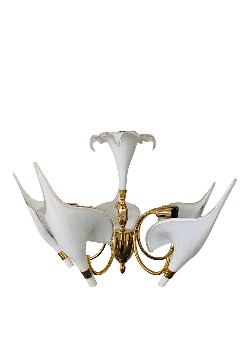 Vintage Murano Calla Lilly Chandelier by Franco Luce