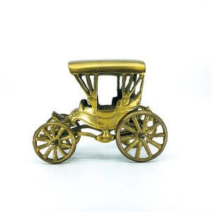 Vintage Brass Horse Carriage