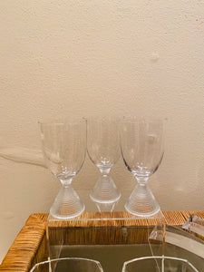 S/3 Cone Shaped Bottom Dainty Glasses