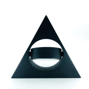Triangle Quartz Clock with Swinging Pendulum