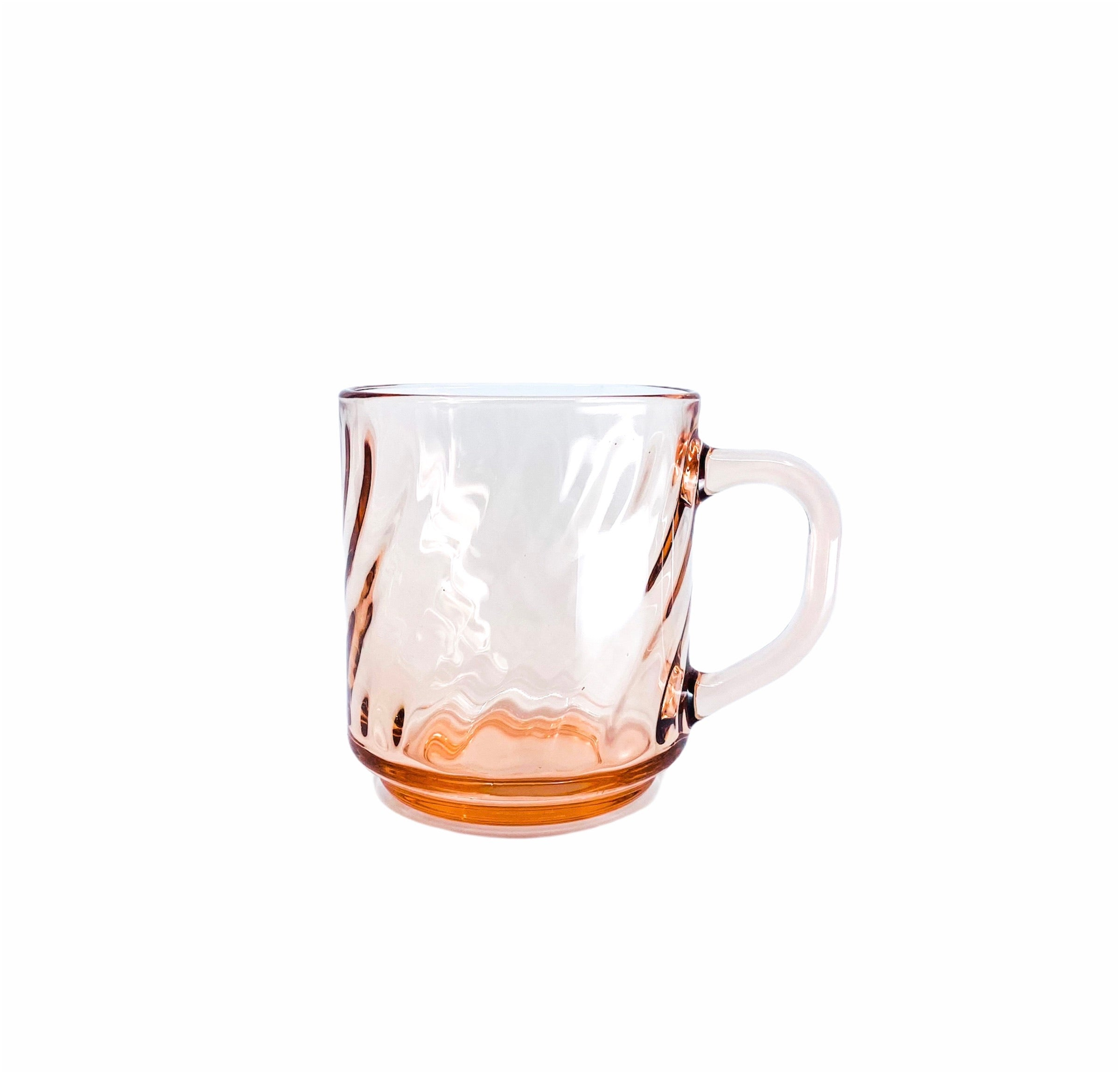Single Rose Swirl Glass Mug