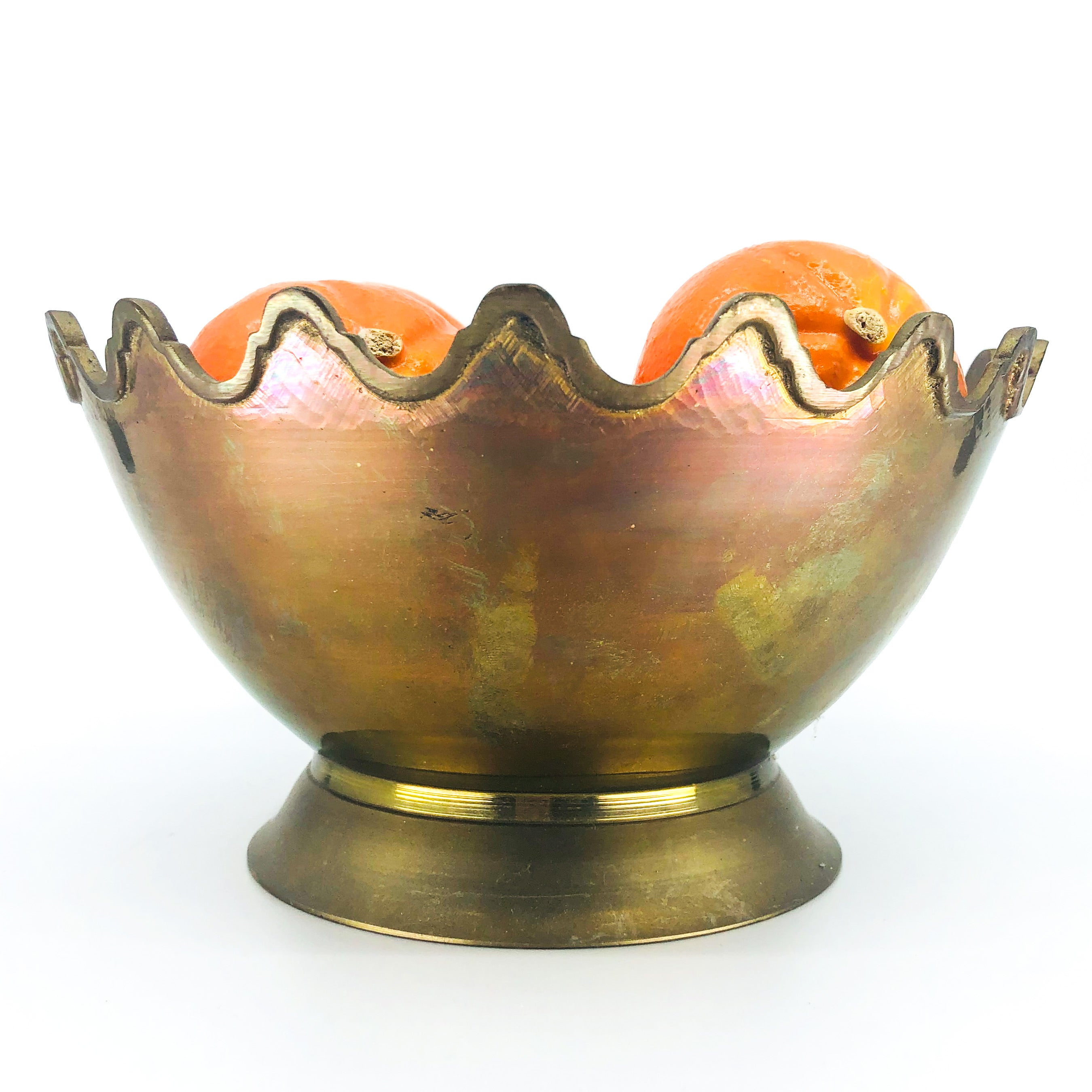 Beautiful Brass Scalloped Edge Bowl/Planter