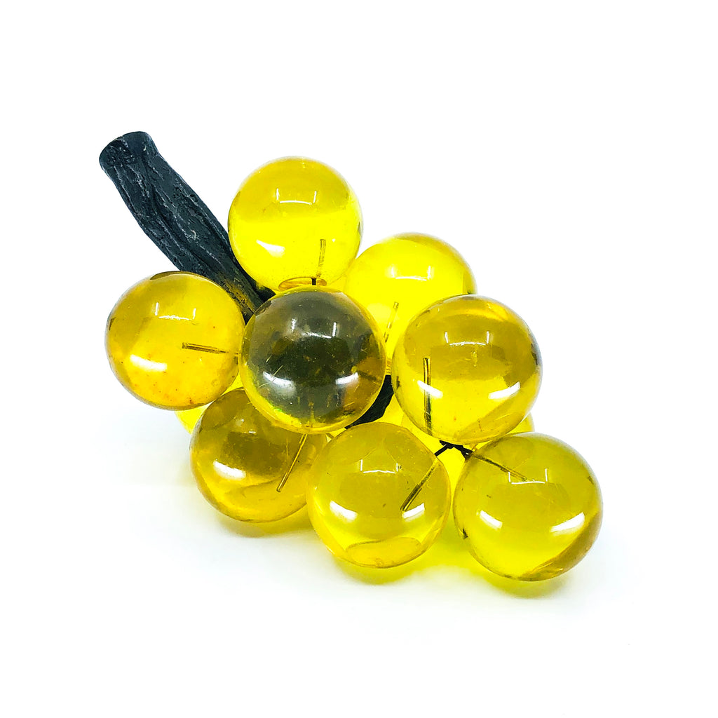 Cluster of Yellow Lucite Grapes
