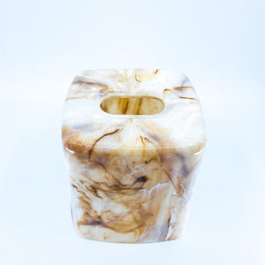 Faux Marble Tissue Holder