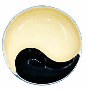 Yin Yang Enamel Serving Bowl