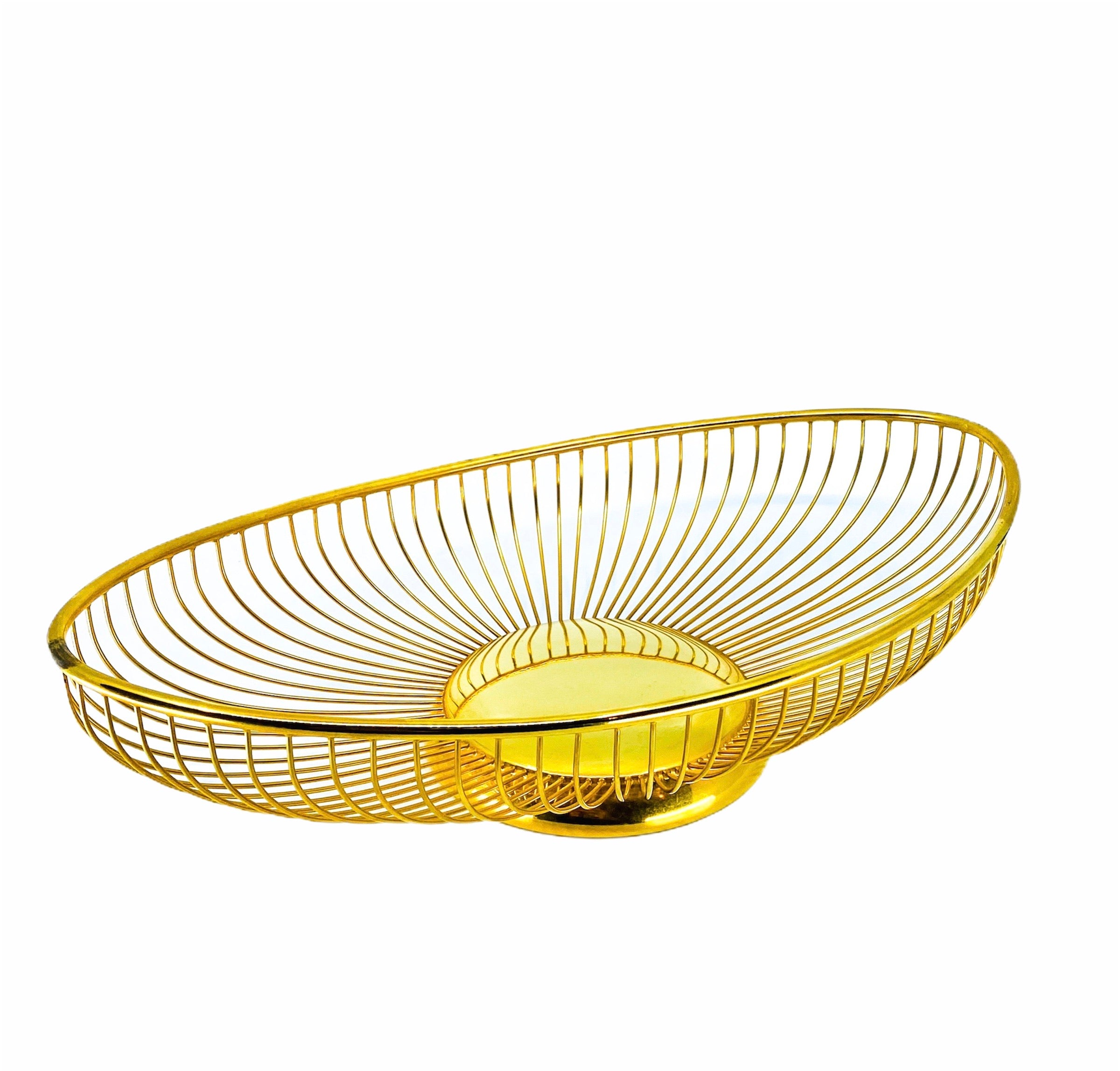 WA Starburst Gold Wire Basket