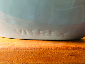 Gray Vitrex Art Deco Ceramic Lamp, 1 available