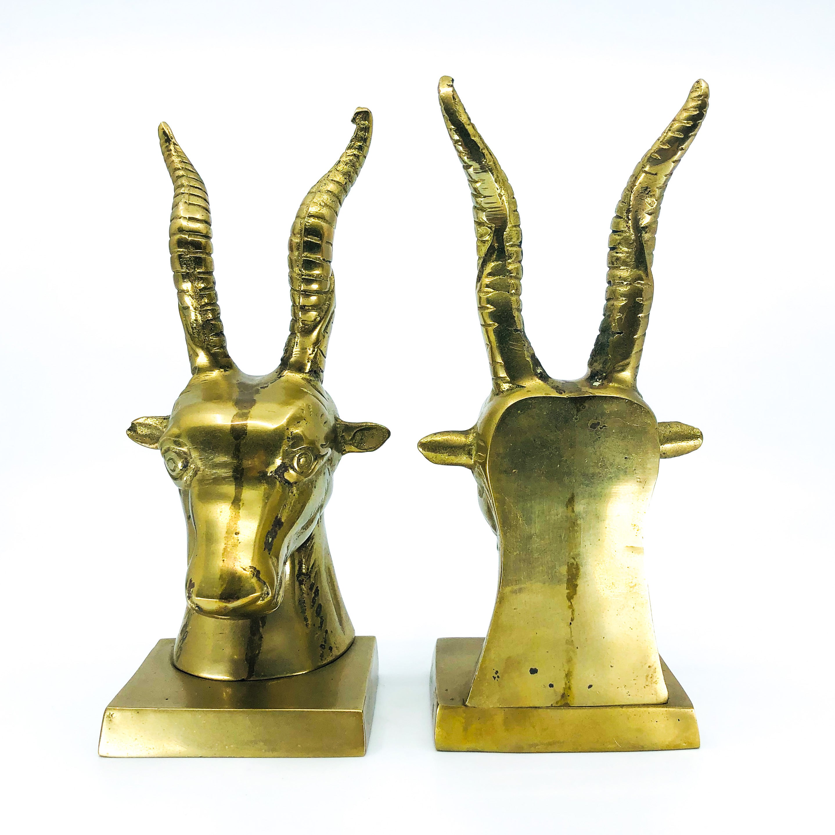 Brass Antelope Bookends