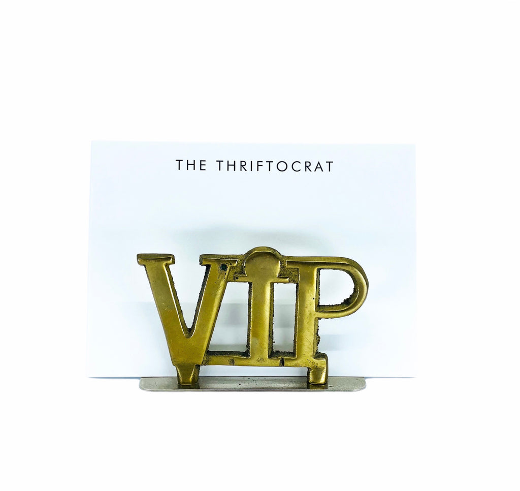 VIP Brass Mail Holder