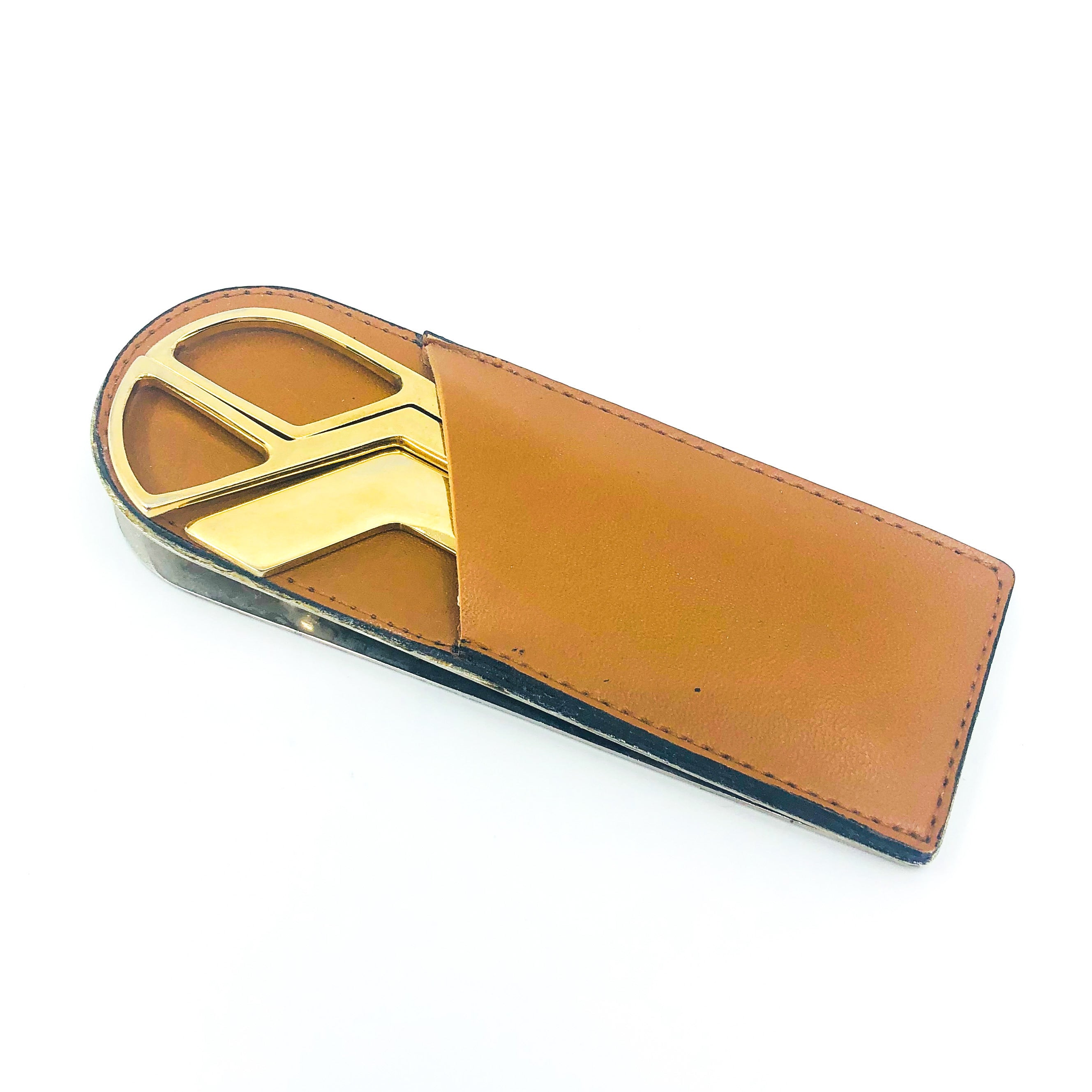Vintage Leather Desk Organizer, Made in Italy