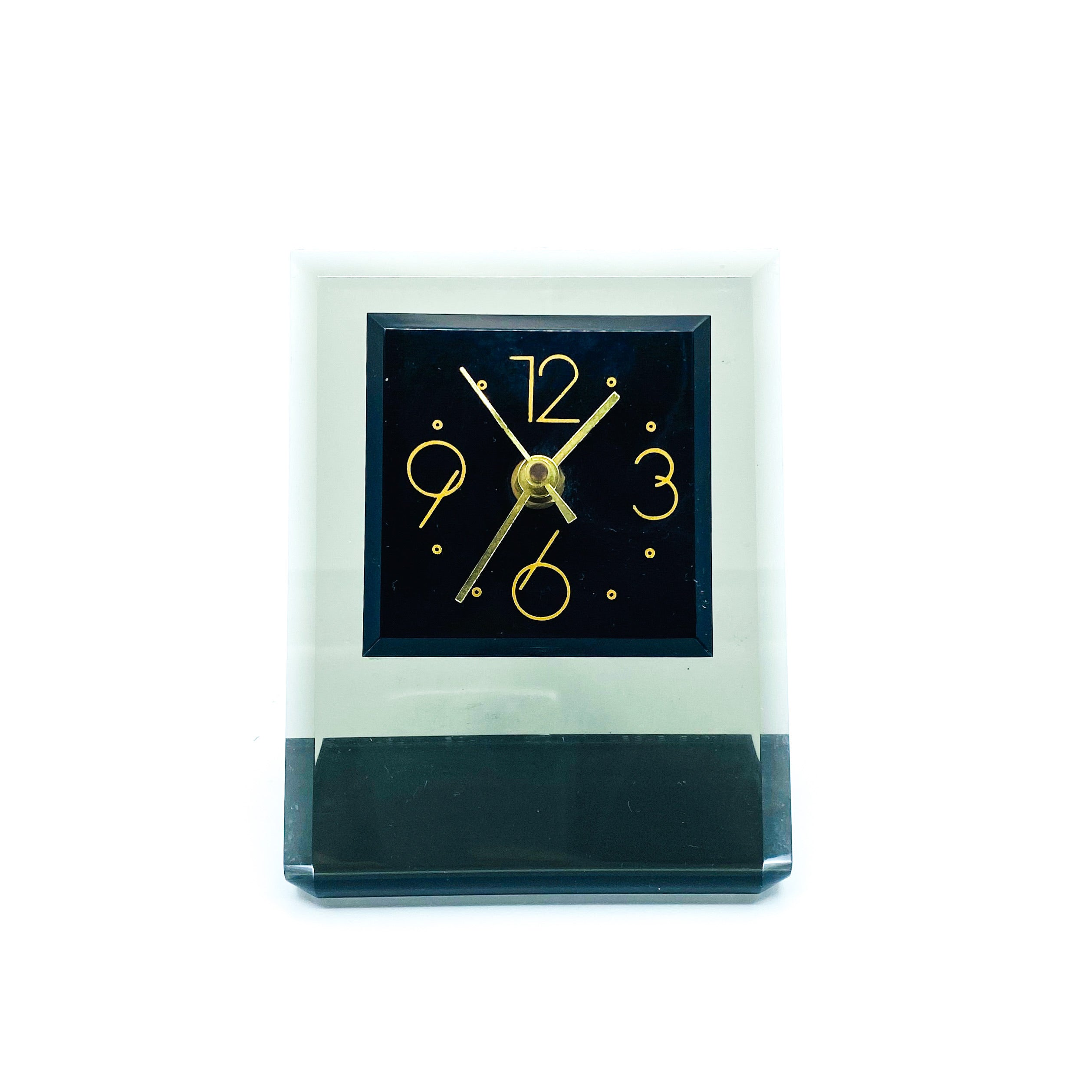 Smokey Lucite Cantilever Table Clock