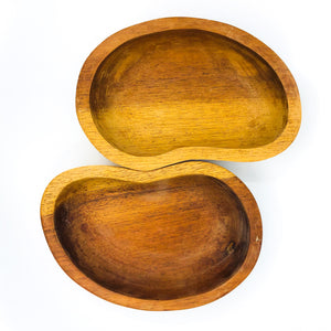 S/2 Monkey Pod Wood Kidney Shaped Bowls / Catch All, 1 Available