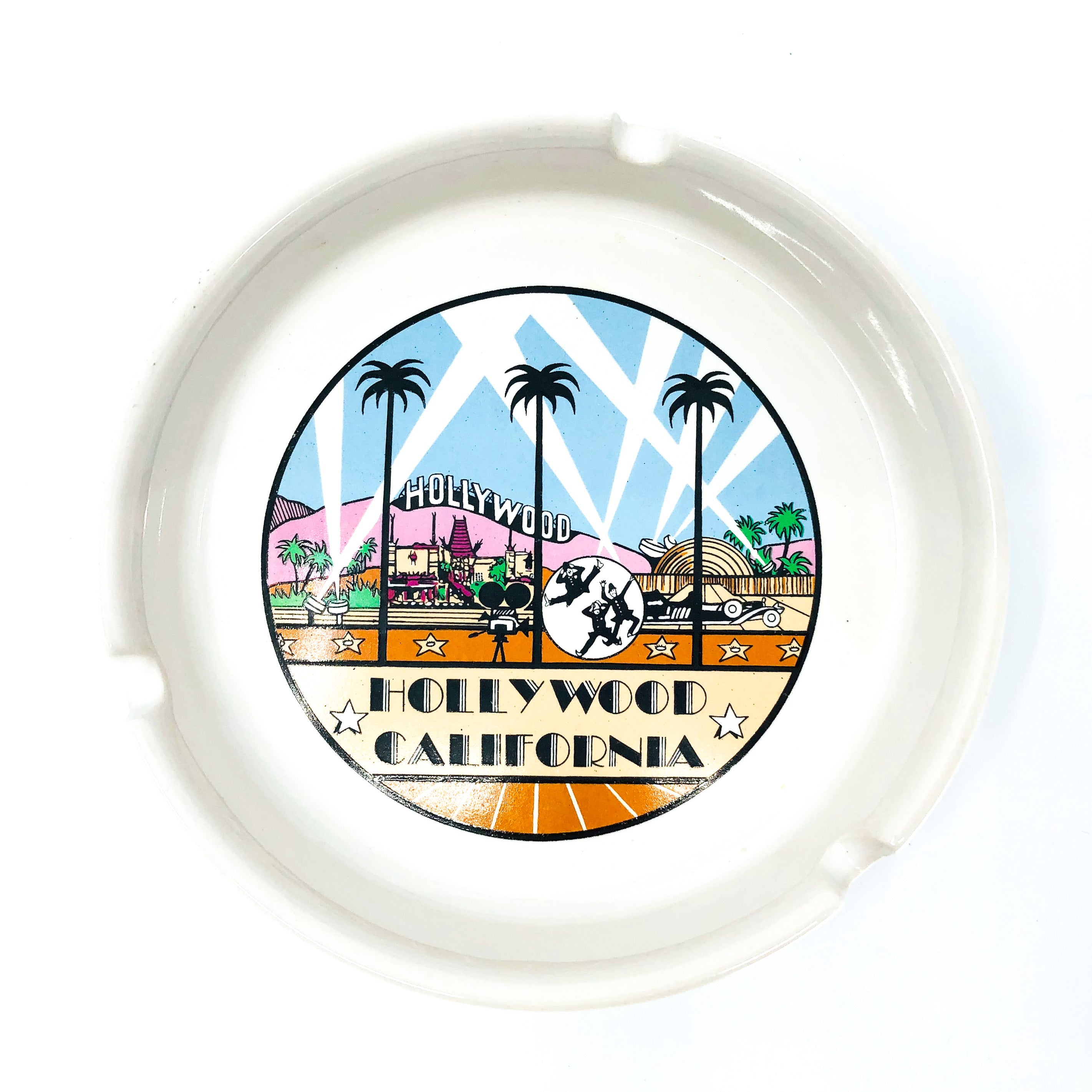 Vintage Hollywood California Ashtray / Catch All