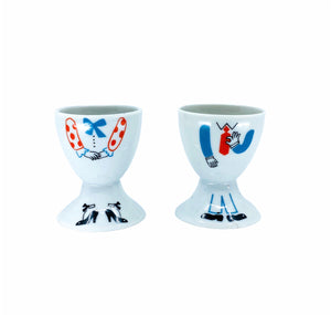 Mr. & Mrs. Egg Holders, A Pair