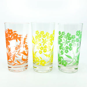 S/5 MCM Floral Drinking Glasses