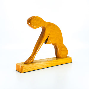 Hand Carved Wooden Woman Statue