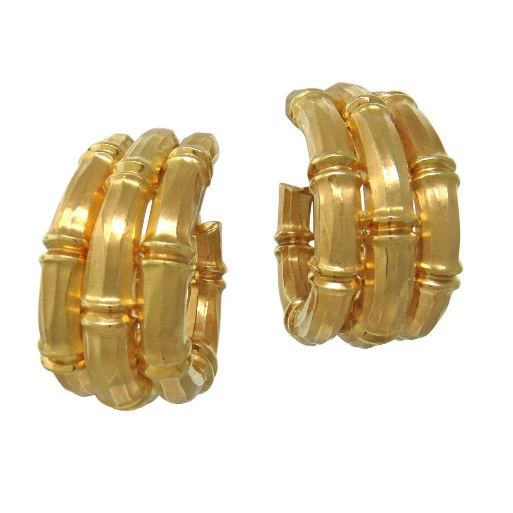 Cartier Bamboo Gold Hoop Earrings - UPONPARK