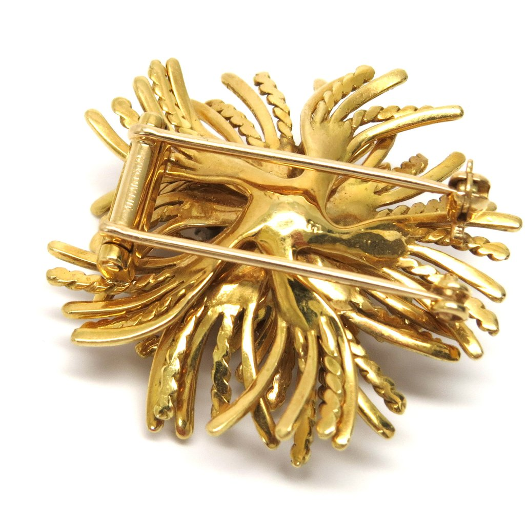 Tiffany & Co Anemone Gold Diamond Brooch Pin - UPONPARK