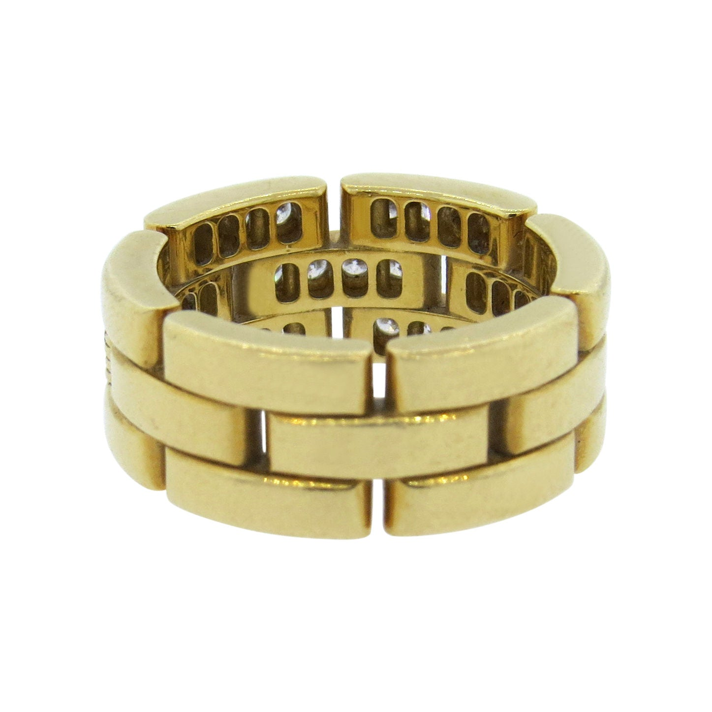 Cartier Maillon Panthere Gold Diamond Ring - UPONPARK