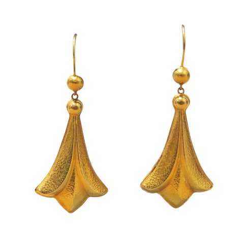 1970s Ilias Lalaounis Gold Swirl Earrings