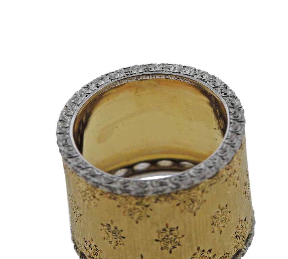 Buccellati Gold Wide Band Ring - UPONPARK