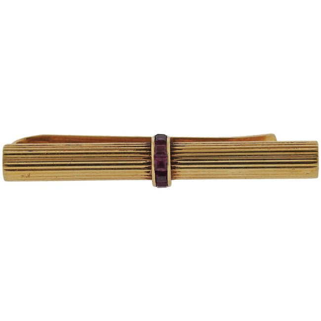 Van Cleef & Arpels VCA Gold Ruby Tie Bar - UPONPARK
