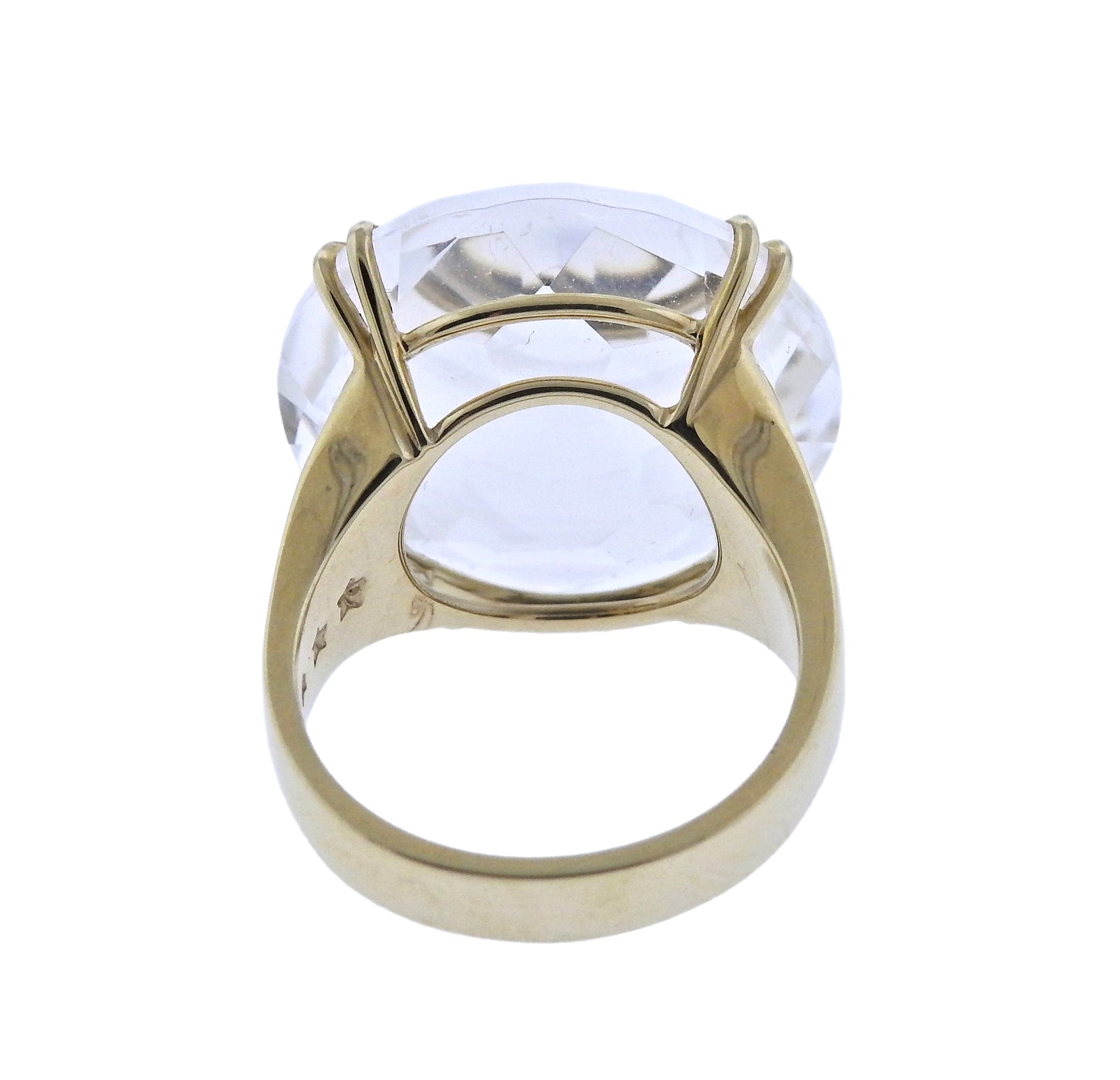 H. Stern Cobblestone Rock Crystal Diamond Gold Ring - UPONPARK