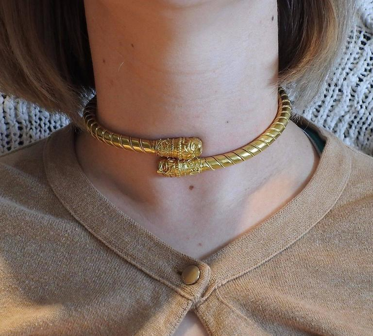 Ilias Lalaounis Greece Gold Chimera Collar Necklace - UPONPARK