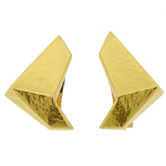 Ilias Lalaounis Geometric Gold Earrings - UPONPARK