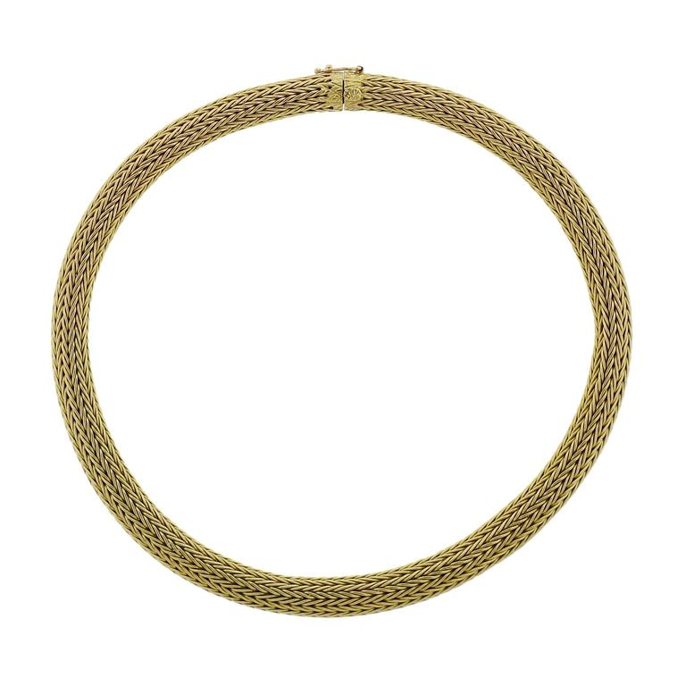 Classic Ilias Lalaounis Greece Gold Necklace - UPONPARK