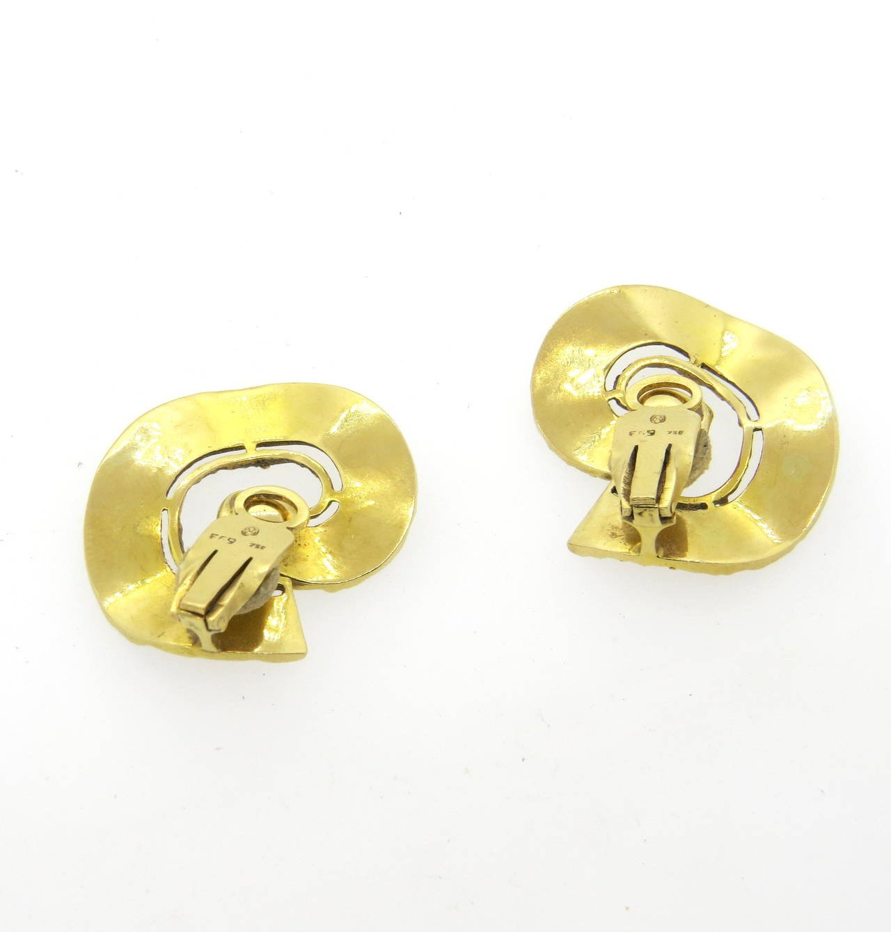 1970s Ilias Lalaounis Gold Swirl Earrings - UPONPARK