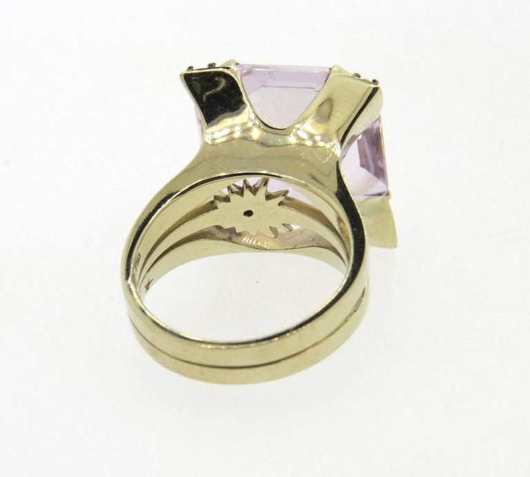 H Stern Quartz Diamond Gold Ring
