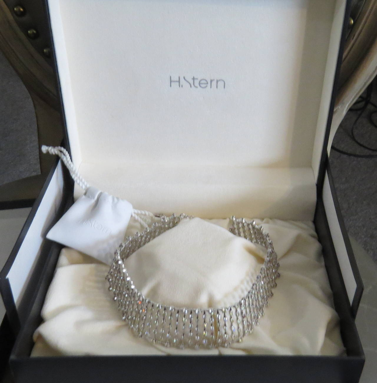 H. Stern World Collection Diamond Gold Necklace and Earrings