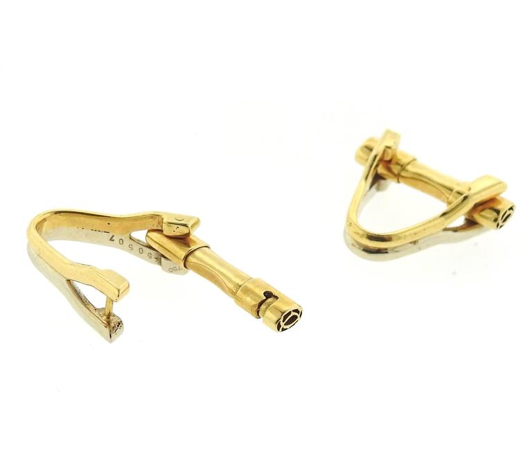 Cartier France Gold Stirrup Cufflinks - UPONPARK