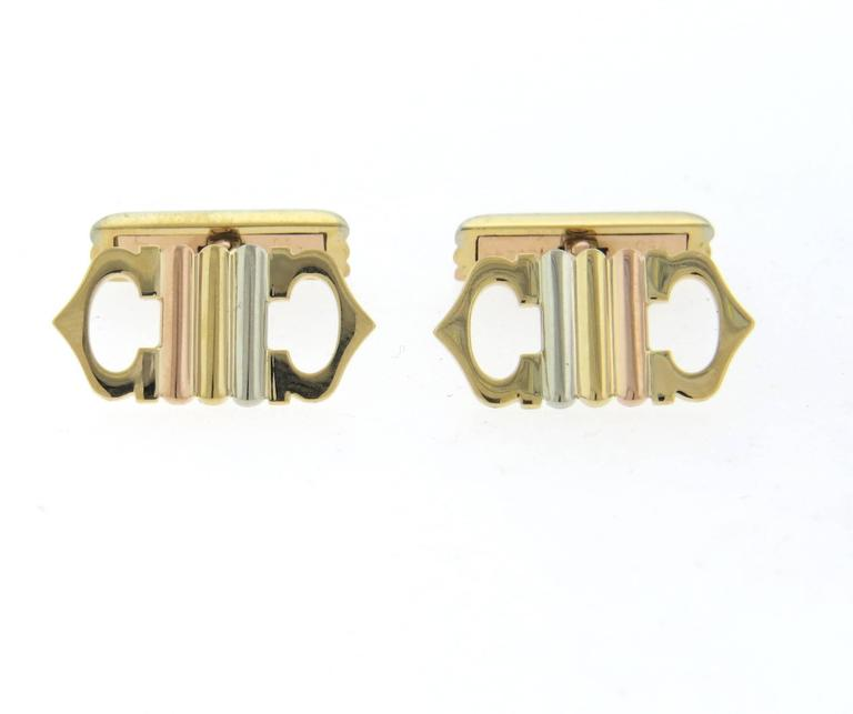 Cartier Trinity Tricolor Gold Cufflinks - UPONPARK